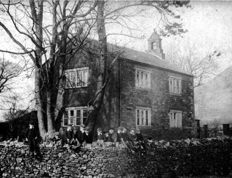 A photograph of Loweswater School around 1900.
